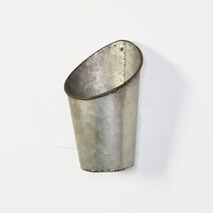 Other - Galvanized Tin Angled Small Wall Pocket